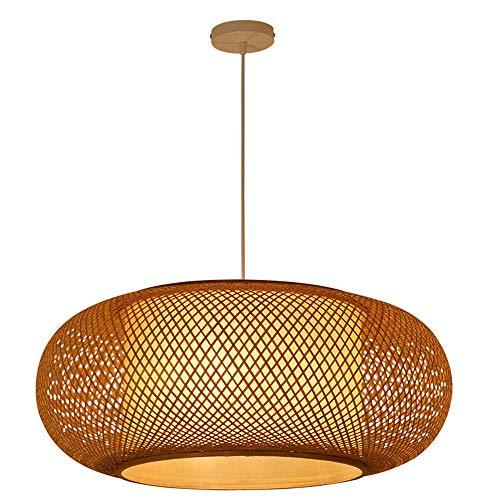 DXQWAN Lámpara de Estilo Retro, lámpara Colgante, lámpara de bambú, Dormitorio, Sala de Estar, lámpara de Techo, salón de té, Comedor, lámpara de bambú, Bar cafetería, Club, lámpara Colgante E27,40CM