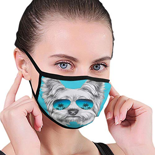 Windproof Activated Carbon mask,Tea Party,Selection of Vivid Colored Teacups Pot Sugar and Floral Arrangements in Corners,Multicolor,Facial Decorations for Man and Woman