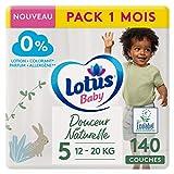 LOTUS Baby - Pañales de suavidad natural, talla 5, 12, 20 kg, paquete de 1 mes