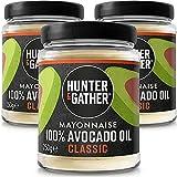 Hunter & Gather Mayonesa de Aceite de Aguacate Puro 3 x 250g   Hecho con Yema de Huevo de Gallina Campera Inglesa   Paleo, Keto, Libre de Gluten y Azúcar   Libre de Saborizantes Artificiales