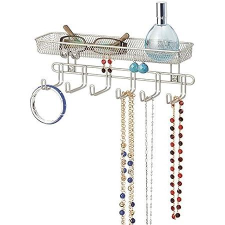 Organizer Kleiderschrank Armband Zubeh/ör Qulable H/ängender Schmuckorganizer f/ür Halskette Halter mit Aufh/änger Ohrringe