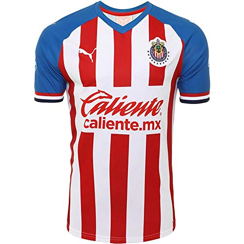 PUMA Men's Chivas Home Jersey 2019-20 (XX-Large) Puma Red-Puma Royal