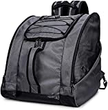 SoarOwl Ski Boot Bag –Skiing Travel Luggage, Excellent for Travel with Waterproof Exterior & Bottom - for Men, Women and Youth (B-Grey)