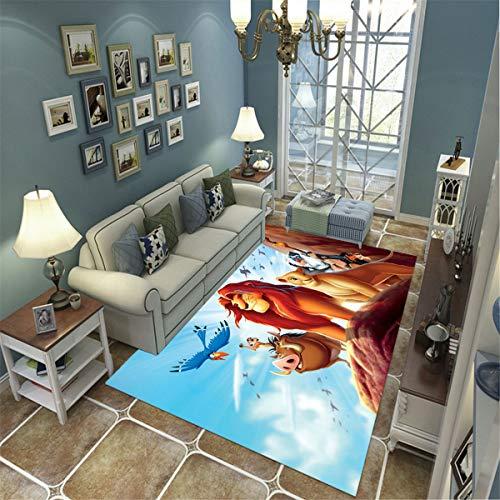 LGXINGLIyidian Casa Alfombra Rey León De Anime Creativo Alfombra Suave Antideslizante De Decoración del Hogar De Impresión 3D 60X100Cm