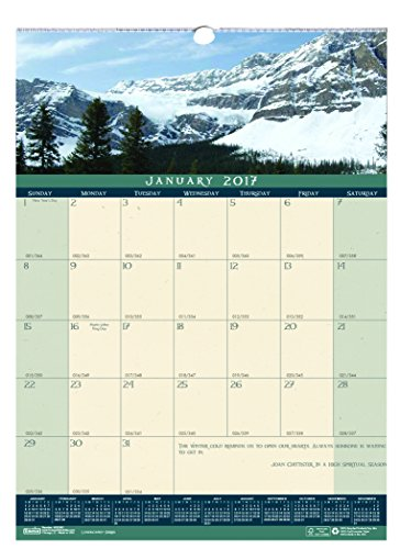 "House of Doolittle 2017 Monthly Wall Calendar, Landscapes, 12 x 16.5"" (HOD362-17)"