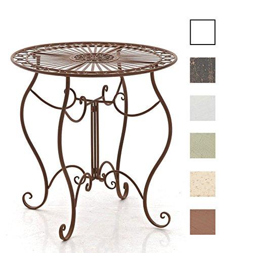 CLP Eisentisch Indra Design I Gartentisch mit geschwungenen Beinen I erhältlich Antik Braun