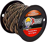 50ft Roll 14 Gauge Solid Core Heavy Duty Professional Grade Twisted Dog Fence Wire - Compatible with All Brands