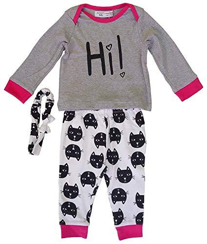 Bébé Filles Minoti Haut Chaton Bas & Bandeau Costume Ensemble Tailles de Nouveau Né pour 12 Mois - Multi, 9-12 Months