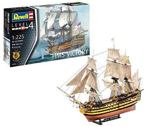 Revell Revell-05408 Maqueta H.M.S. Victory, Kit Modello, Escala 1:225 (5408) (05408)