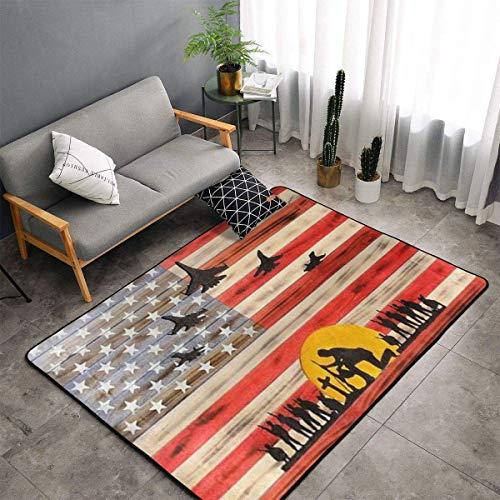 Liz Carter 36X24in Area Rug Door Mat Durable Carpet Absorbs Water Floor Mat American Flag