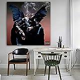 Cartel de Cantante de música rapera y Grabado Sala de Estar decoración del hogar Lienzo Arte de Pared,Pintura sin Marco,40X40cm