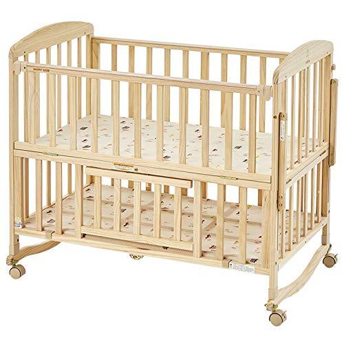 Rabbfay 4-In-1-Baby Cabrio Kinderbett Mit Matratze, Umwandelbar in Schreibtisch, Wiegenbett, Seitliches Bett, Baby Dolls Bett 100 cm Bett Kann Auf 160 cm Erweitert Werden