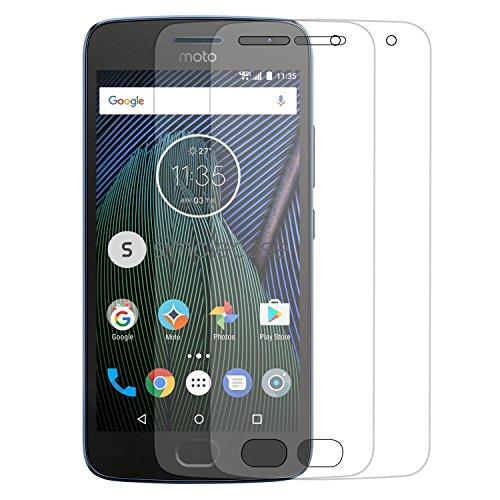 Simplecase Panzerglas passend zu Motorola Moto G5 , Premium Displayschutz , Schutz durch Extra Härtegrad 9H , Case Friendly , Echtglas / Verbundglas / Panzerglasfolie , Transparent - 2 Stück