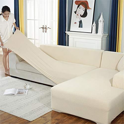 DAPAIZI L-Form Sofabezug Stretch Stoff Schnittsofabezüge, Strapazierfähiger Spandex Chaise Louge Möbelschutz (L-förmiges Ecksofa Müssen Zwei Kaufen). (SFT-15,3 Seater)
