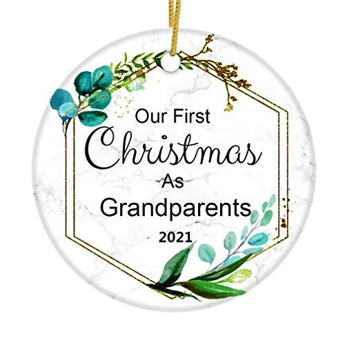 JUPPE Our First Christmas As Grandparents 2020 Ornament New Grandpa Grandma Xmax...
