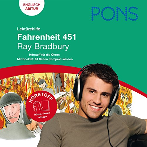 Fahrenheit 451 - Bradbury Lektürehilfe. PONS Lektürehilfe - Fahrenheit 451 - Ray Bradbury audiobook cover art