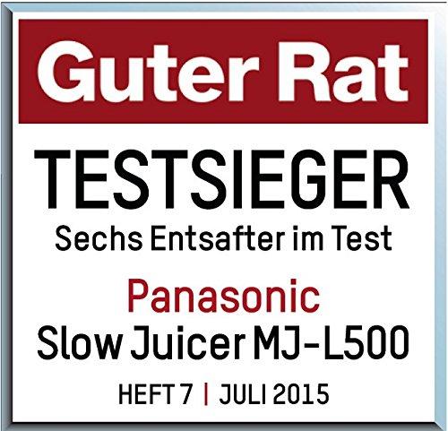 Panasonic MJ-L500S Slow Juicer Sieger unter 200 Euro Bild 4*
