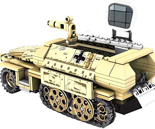 Egrus Bloques de construcción de Tanques Militares, Paquete de 355 Alemania 50.kfz.251 Vehículo blindado SWAT WW2 Modelo de Tanque de Juguete para niños Adultos compatibles con Lego