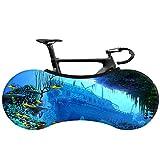 Cubierta de bicicleta de seda de leche de resistencia de polvo, fácil de almacenar, lavabos, bicicleta de montaña, patrón de paisaje, protector solar y impermeable a prueba de lluvia, impermeable,10