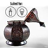 Gadgy ® Orientalische Lampe (36 cm) l Für Kerzen und elektrische Lichter l Innen und Außen Deko l Windbeständig l Marokkanisch Arabisch Orientalisch l Handgemacht - 4