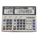 XINPENGFA Desktop Office Calculator 12 Digit Display and Big Button, Basic Business Calculator(Pack of 2)