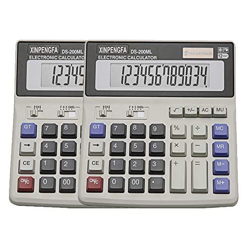 2 Pack XINPENGFA Desktop Office Calculator 12 Digit Display and Big Button, Basic Business Calculator