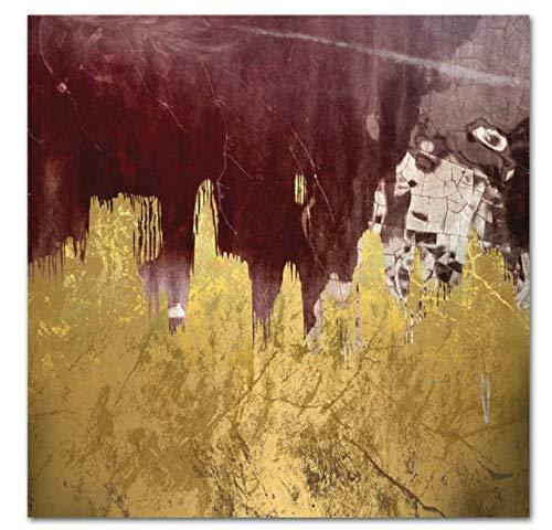H/S Póster De Lámina Dorada con Textura Abstracta, Pintura Al Óleo De Paisaje Nórdico, Retro, DIY, Hogar, Sala De Estar, Decoración De Bar, Mural Sin Marco, 40X60Cm L4433