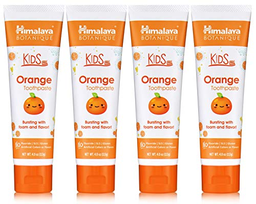 Himalaya Botanique Kids Toothpaste, Orange Flavor...