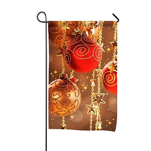 Décorations de Noël dorées12x18 Pouces Prime Garden Flag for Gardens Fade Resistant Garden Yard Flag