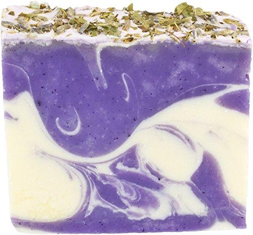 Greendoor handgesiedete Naturseife Eisenkraut-Lavendel, milde umweltfreundliche Seife vegan 100g aus der Naturkosmetik Manufaktur, Natur, natürliche Handseife