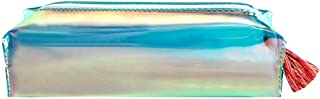 Monique Students Holographic Pencil Case Holder Stationery Pouch Women Mini Cosmetic Bag 7.9 * 2.2 * 2.4in 00113 Green