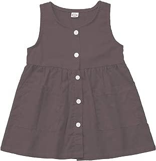 OKGIRL Kids Toddler Girls Solid Color Sleeveless Ruffle Dress Girl Summer Sundress Clothes Outfits