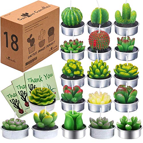 Cactus Tealight Candles 18 pcs