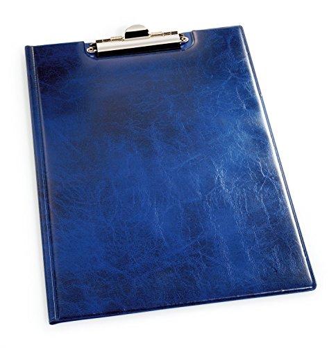Durable 235506 Blockmappe A4, aufklappbar mit Federklemme und Innentaschen, blau