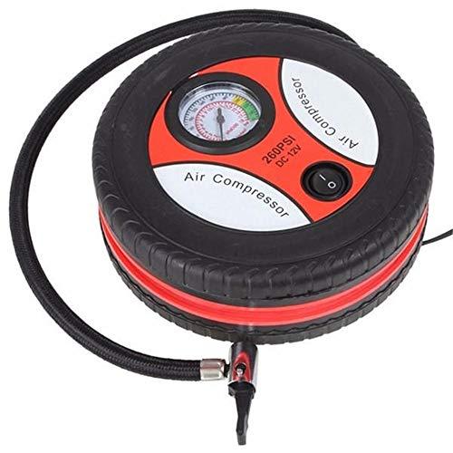 MELLRO Auto-Luftpumpen Auto-Fahrrad-Luftpumpe Sportball Luftmatratzen Aufblasbare Spielzeuge Luftpumpe DC 12V beweglicher Luftverdichter Auto Zubehör (Color : Red, Size : One Size)