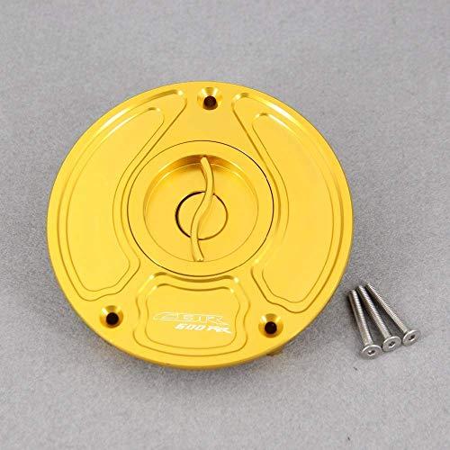 Jiewei CNC de Aluminio sin Llave for H0NDA CBR600 RR CBR 600 RR CBR600RR 2003 a un máximo de Motos Accesorios de Gas Combustible Tapa Tanque para estrenar (Color : Golden)