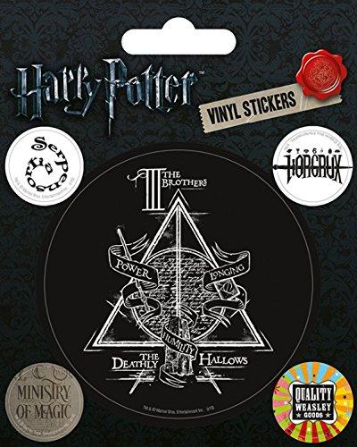 Harry Potter 1art1 Poster-Sticker Autocollant - Symboles, Reliques De La Mort, Ministère De La Magie, Produits de Weasley (12 x 10 cm)