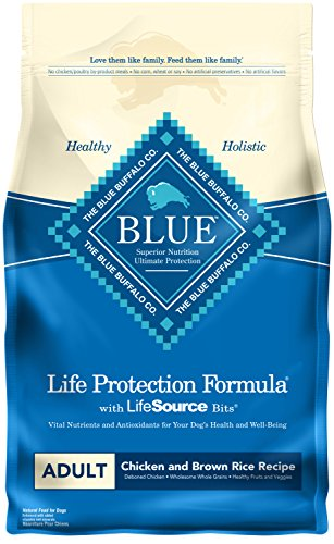 Blue Buffalo Life Protection Formula Adult Dog Food – Natural Dry Dog Food for Adult Dogs – Chicken and Brown Rice – 6 lb. Bag