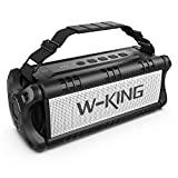 50W(70W Peak) Wireless Bluetooth Speakers Built-in 8000mAh Battery Power Bank, W-KING Outdoor Portable Waterproof TWS, DSP, NFC Speaker, Powerful Rich Bass Loud Stereo Sound