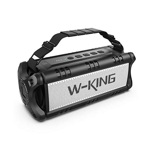 50W(70W Peak) Bluetooth Speakers Built-in 8000mAh Battery Power Bank, W-KING Wireless...