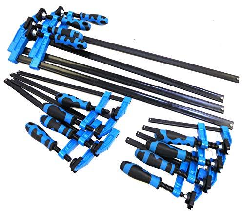 Pack 2-Heavy Duty 300 mm x 50 mm F Clamps-poignée en acier rapide Slide Bois Pinces