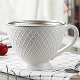 Taza de café, Taza de Doble Aislamiento de 12 onzas (350 ml), Juego de té Helado café Latte Espresso Resistente al Calor, 1 Juego (Redondo)