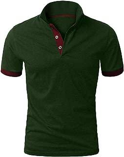 Men Short Sleeve Casual T-shirt, Male Fashion Patchwork Print Double Color T-Shirts Blouses Tops