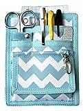 6 Piece Protective Lab Coat Pocket Organizer Kit has Popular Sky Blue Chevron Pattern You're Sure to...