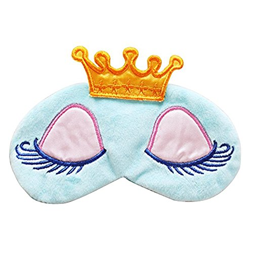 GoBeLi - Maschera da notte da principessa (blu), dimenticati il mondo intorno a te e ti porti nel tuo Regno Unito, qualità