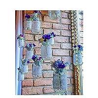 Diyのデジタル油絵子供大人初心者油絵数字キットによる絵画塗り絵大人手塗り - ガラス瓶の紫色の花 40x50cm(フレームなし)