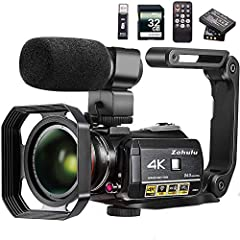 """Latest 4K Ultra HD Video Camera with 4K 3840x2160 (24FPS) video resolution / 13.0MP Sony CMOS sensor / 3.1"""" Inch IPS touch screen / 30X Digitally enhanced zoom. One of the world's only colorful infrared night vision and full spectrum video recorder c..."""