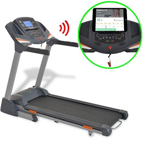 vidaXL Tapis de Course motorisé 3 HP Bluetooth App Smartphone Appareil Fitness
