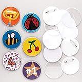 Baker Ross E1754 Bastelset für Anstecker (10 Stück) für Kinder zum Dekorieren und als Mitgebsel für Kinder