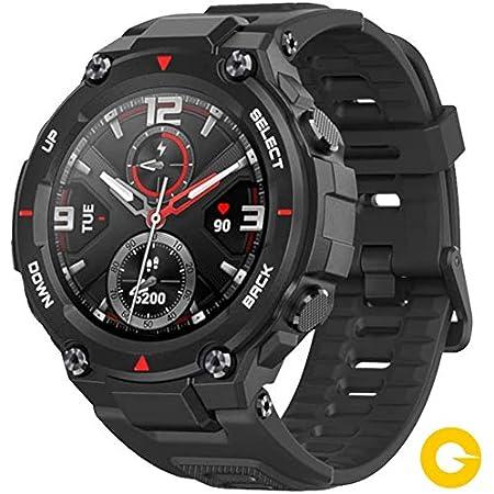 Amazfit T-Rex Reloj Smartwatch Deportivo - 20 Días Batería, 12 Certificados Militares, 50m Agua, 14 Modos Deportivos, Doble Satélite, Pantalla AMOLED ...